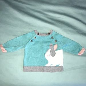 Baby Boden Cotton Bunny Sweater